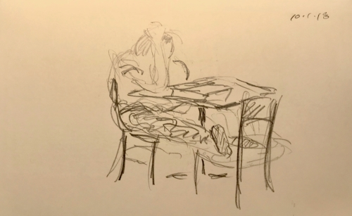 Sketch: Pencil - Reading a Very Difficult Passage