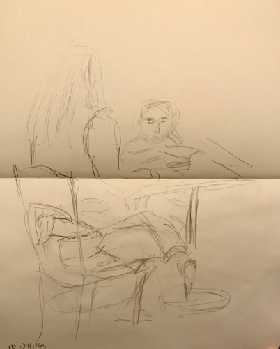 Sketch: Pencil - Tutor and Child
