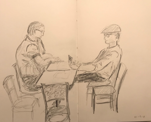 Sketch: Pencil - Tutor Waiting For Tutee Who Arrived 15 Minutes Later
