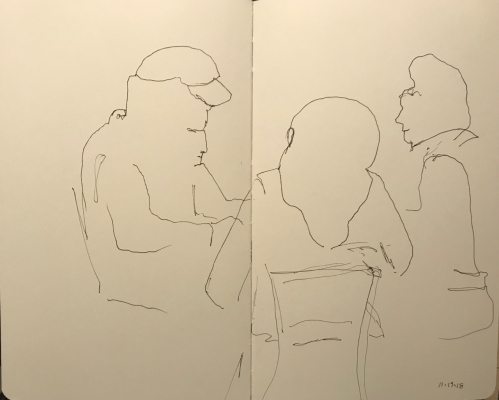 Sketch: Pen and Ink - Blind Drawing and Lack of Concentration
