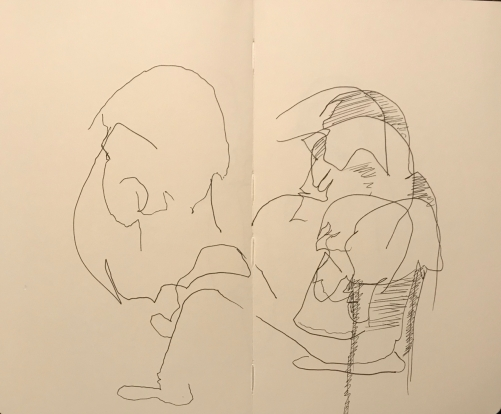 Sketch: Pen and Ink - Blind Free Form Portraits