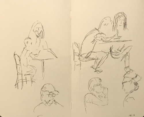 Sketch: Pen and Ink - Face and Posture Studies