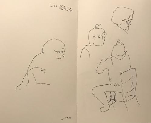 Sketch: Pen and Ink - Left-Handed Blind Portraits