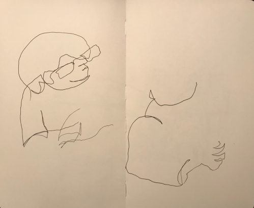 Sketch: Pen and Ink - One-And-A-Half Blind Drawings