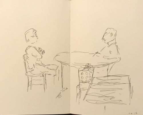 Sketch: Pen and Ink - The Italian Lesson