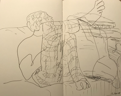 Sketch: Pen and Ink - Back to Normal After Christmas