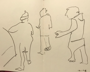 Sketch: Pen and Ink - In Line Drawn Totally Blind