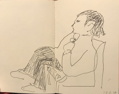 Sketch: Pen and Ink - Reclining Figure