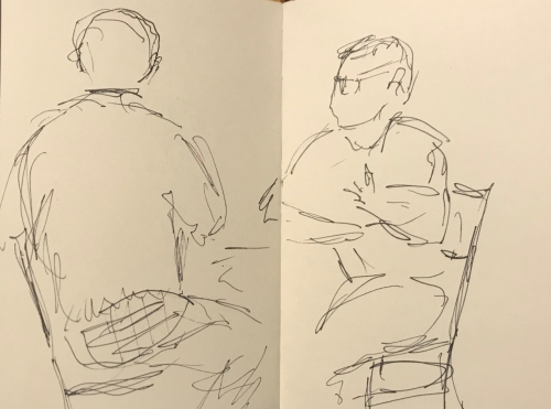 Sketch: Pen and Ink - The Teacher