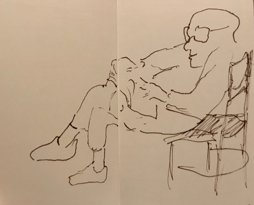 Sketch: Pen and Ink - Small Format Blind Portrait of Reader