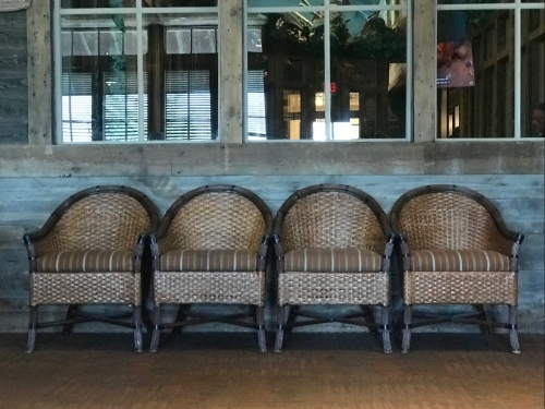 Photography: Street Photography - Four Wicker Chairs in a Row