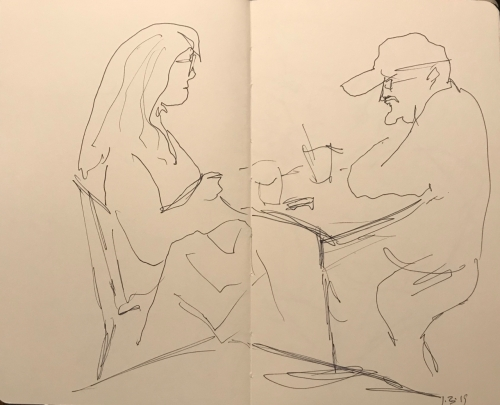 Sketch: Pen and Ink - Grumpy Man and Woman