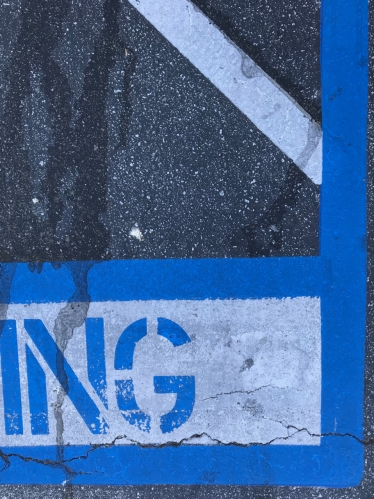 Photography: Street Photography - Handicap Parking Space with Drips and Cracks