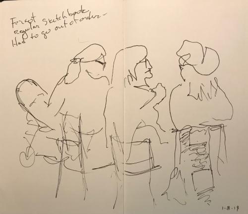 Sketch: Pen and Ink - Note to Self - Bring Sketchbook to Work