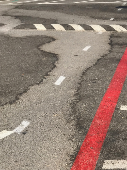 Photography: Street Photography - Street Art #7: Parking Lot Visual Elements in Perspective