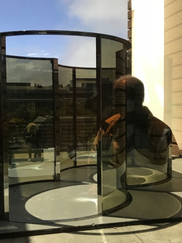 Photography: Street Photography - Surrealistic Portrait in Hall of Windows