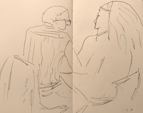 Sketch: Pen and Ink - Tutoring Too Close for Comfort