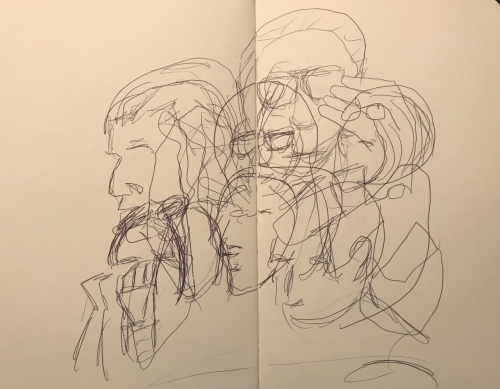 Sketch: Pen and Ink - Scrambled Faces