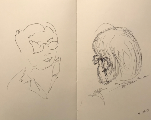 Sketch: Pen and Ink - Clinician and Patient