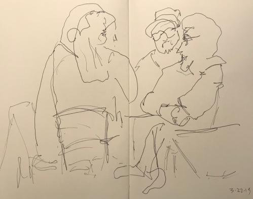 Sketch: Pen and Ink - Discussion Quartet