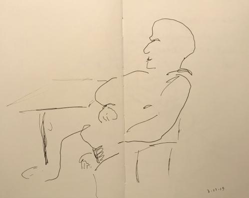 Sketch: Pen and Ink - Eagle Eyes Resting