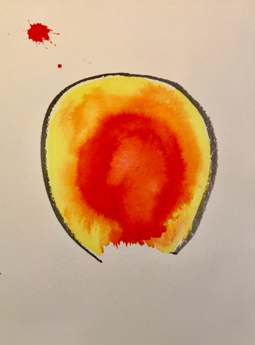 Watercolor: Abstract - Hot Idea Gets Out