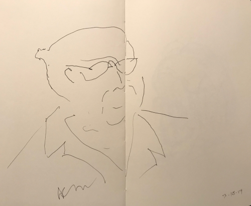 Sketch: Pen and Ink - Portrait of Clinician