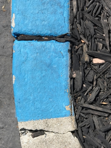 Photography: Street Photography - Black Line in Blue Curb
