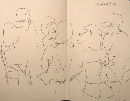 Sketch: Pen and Ink - Book Club