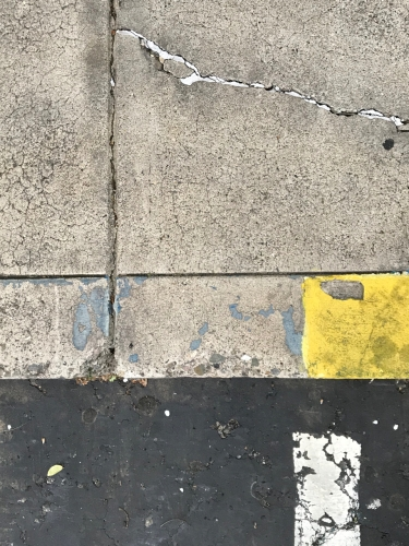 Photography: Street Photography - Derelict Parking Lot and Sidewalk