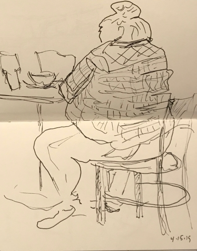 Sketch: Pen and Ink - Large Woman