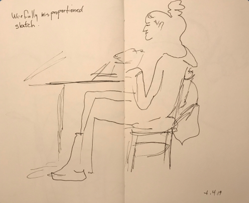 Sketch: Pen and Ink - Woefully Misproportioned Sketch