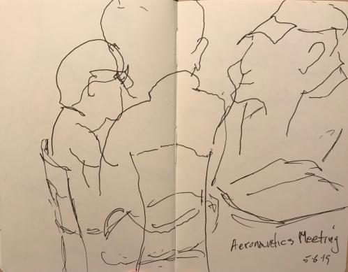 Sketch: Pen and Ink - Aeronautics Meeting