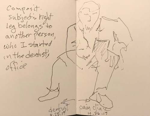 Sketch: Pen and Ink - Composite: Dentist and Pain Clinic