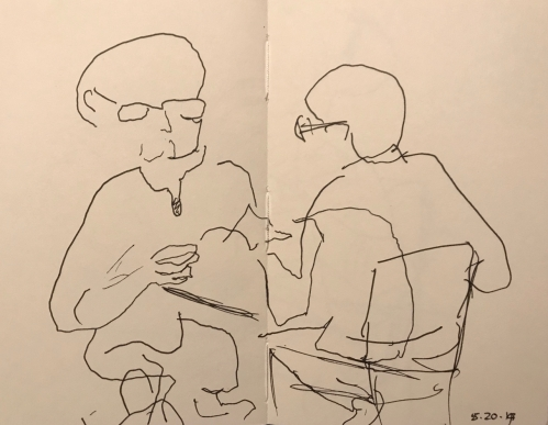 Sketch: Pen and Ink - Dislocated Faces