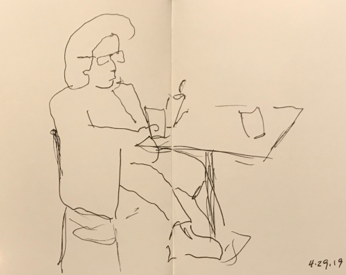 Sketch: Pen and Ink - Engrossed