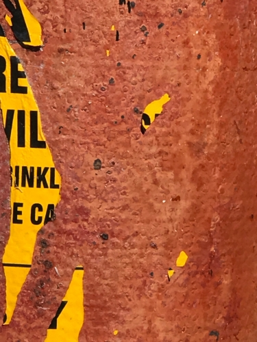 Photography: Street Photography - Yellow Warning Ripped Off