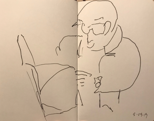Sketch: Pen and Ink - Interesting News Item
