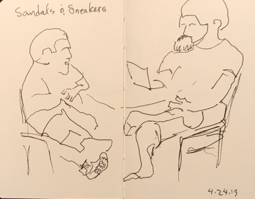 Sketch: Pen and Ink - Sandals and Sneakers