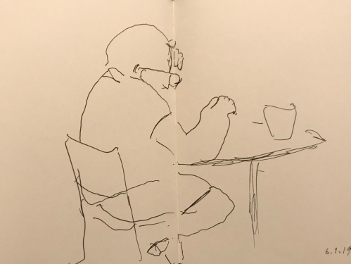 Sketch: Pen and Ink - Misplaced Spectacles