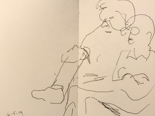 Sketch: Pen and Ink - Overlapping People