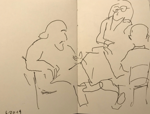 Sketch: Pen and Ink - Book Discussion