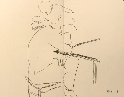 Sketch: Pen and Ink - Contemplation