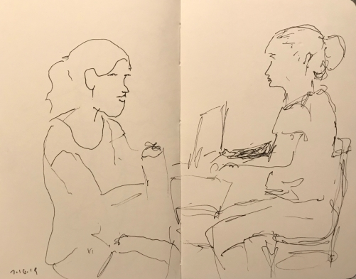 Sketch: Pen and Ink - Double Portrait