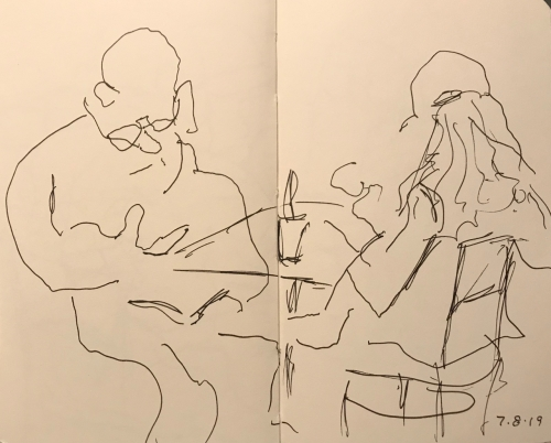 Sketch: Pen and Ink - Ear-Glasses Disconnect