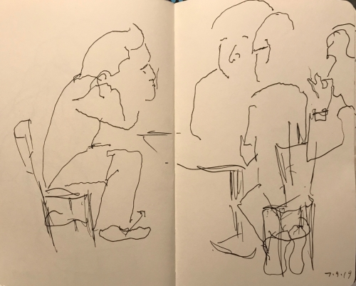 Sketch: Pen and Ink - Excuse Me, I Have the Floor