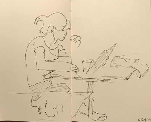 Sketch: Pen and Ink - Hard at Work