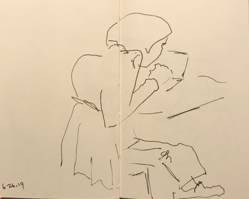 Sketch: Pen and Ink - Intense Concentration