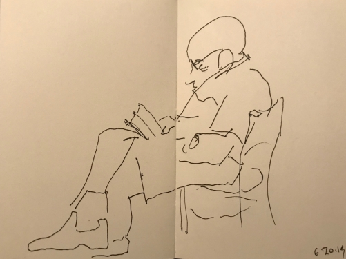 Sketch: Pen and Ink - Perfectly Content