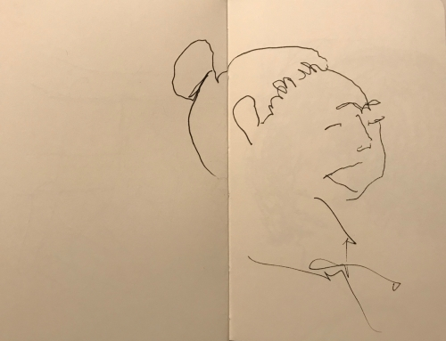 Sketch: Pen and Ink - Profile